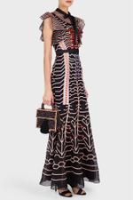 Black Canopy Evening Dress