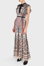 Almond Canopy Evening Dress
