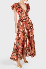 Audrey Animal Print Long Dress
