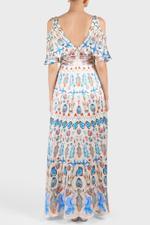 Quartz Printed Long Dress
