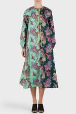 Paisley Print On Cotton Shirt Dress
