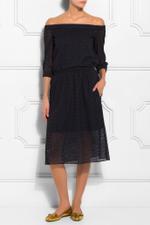 Diffusion Eyelet Midi Skirt
