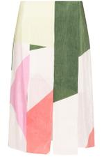 Pieza Printed Paneled Skirt