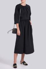 Smocked A-Line Skirt