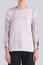 Twill Shirred Top