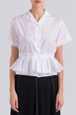 Drawstring Ruffle Top