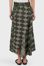Beetle Printed Twisted Skirt