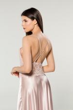 Lace & Satin Long Nightdress - Rose