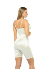 Slimming Shapewear Bodysuit with half cup body corset and shorts - Beige