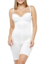 Slimming Shapewear Bodysuit with half cup body corset and shorts - Chanpagne