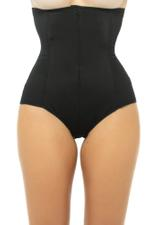 Slimming High Waisted Corset Panty - Black