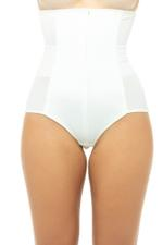 Slimming High Waisted Corset Panty - Champagne