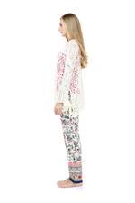 Floral Printed 3-Piece Cotton Pajama Set