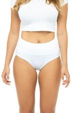 Classic High Rise Panty - White