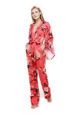 3 Piece cotton Pyjama Set  - Red