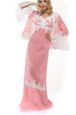 2 Piece Voile Cotton Jalabiya - Peach