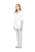 Cotton & Lace Pyjama set - White