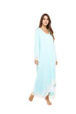 Long Stretch Nightdress with high front hem - Mint