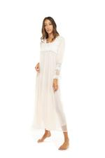 Tulle Long Maternity Jalabiya - Peach