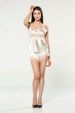 3 Piece Short Pyjama Set - Ivory