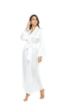Long White Satin Robe