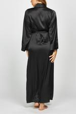 Long Black Satin Robe