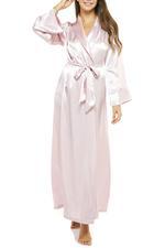 Long Rose Satin Robe