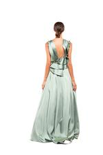 Sculptured Satin Dress - Green
