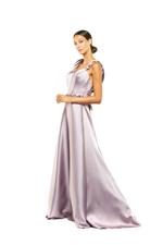Sculptured Satin Gown - Lilac