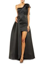 Overskirt Satin Gown - Black
