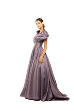 Off-Shoulder Satin Taffeta Gown - Lilac