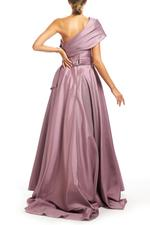 One shoulder Satin Gown - Lilac