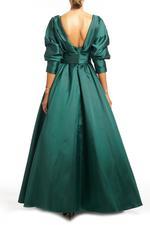 Classic Satin Taffeta Gown - Green