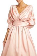Classic Satin Taffeta Gown - Peach