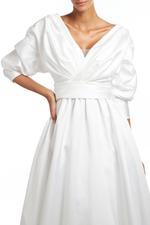 Classic Satin Taffeta Gown - White