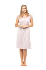 Dantel Lace Short Nightdress - Rose Pink