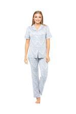 Paisley Print Long Pyjama Set