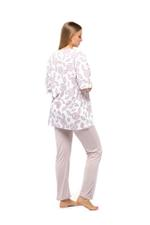 Floral Print Long Pyjama Set - Rose Pink