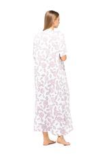 Floral Print Long Nightdress - Rose Pink