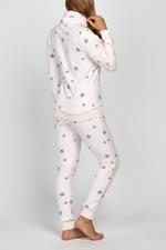 Fleece Star Pyjama - Rose