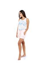 Printed Cotton Pajama Set - Pink