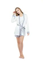 Cotton Short Pyjamas & Robe Set