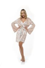 Luxury Velour Robe - Beige