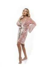 Luxury Velour  Robe - Rose