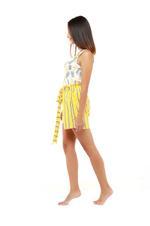 Pineapple & Stripes Short Pyjama Set - Peach