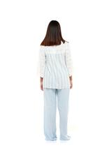 Cotton striped Pyjama Set - Blue/White