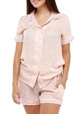 Floral Short Pyjama set - Peach