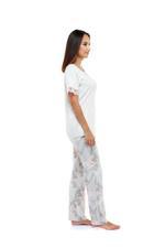 Floral Print long Pyjama Set - Beige