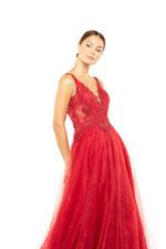 French Lace Beaded Gown - Red