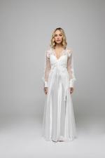 Margarita Bridal Satin & Lace Nightdress & Robe Set - White